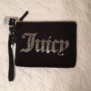 NWT Juicy Couture black clutch